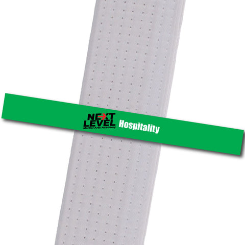 Next Level MA - Hospitality Achievement Stripes - BeltStripes.com : The #1 Source for Martial Arts Belt Tape