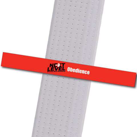Next Level MA - Obedience Achievement Stripes - BeltStripes.com : The #1 Source for Martial Arts Belt Tape