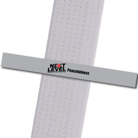 Next Level MA - Peacefulness Achievement Stripes - BeltStripes.com : The #1 Source for Martial Arts Belt Tape