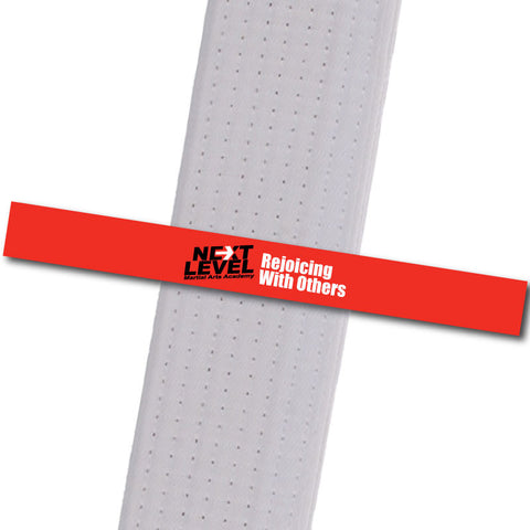 Next Level MA - Rejoicing With Others Achievement Stripes - BeltStripes.com : The #1 Source for Martial Arts Belt Tape