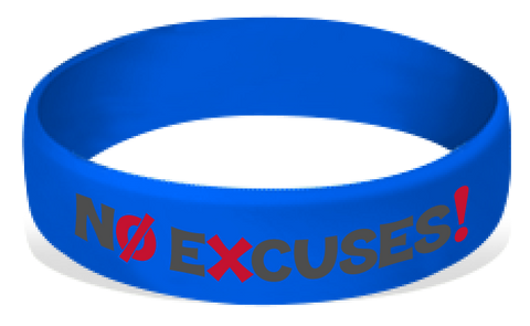 MatChats - No Excuses! Silicone Wrist Bands - Level 4: Champion Achievement Stripes - BeltStripes.com : The #1 Source for Martial Arts Belt Tape