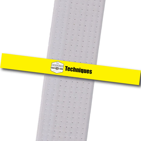 Pecks TKD - Techniques Custom Belt Stripes - BeltStripes.com : The #1 Source for Martial Arts Belt Tape