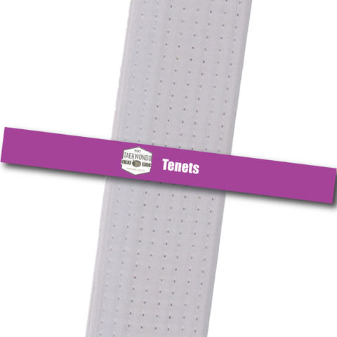 Pecks TKD - Tenets Custom Belt Stripes - BeltStripes.com : The #1 Source for Martial Arts Belt Tape