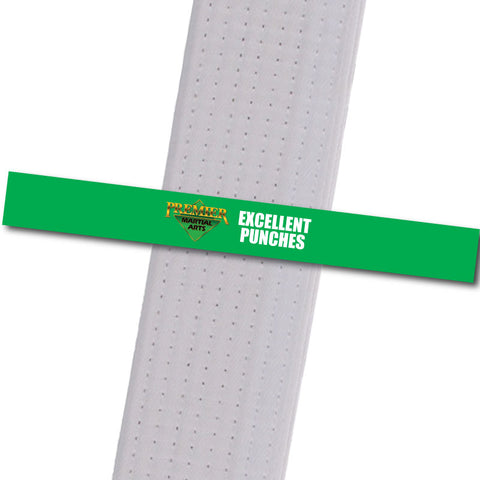 Premier Martial Arts - Excellent Punches Custom Belt Stripes - BeltStripes.com : The #1 Source for Martial Arts Belt Tape