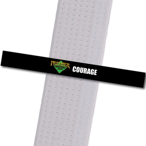 Premier MA Powder Springs - Courage Achievement Stripes - BeltStripes.com : The #1 Source for Martial Arts Belt Tape