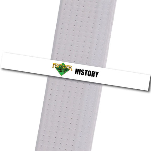 Premier MA Powder Springs - History Achievement Stripes - BeltStripes.com : The #1 Source for Martial Arts Belt Tape