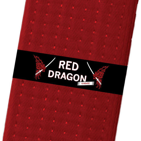 Red Dragon Karate BeltStripes - Black Custom Belt Stripes - BeltStripes.com : The #1 Source for Martial Arts Belt Tape