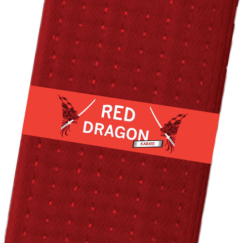 Red Dragon Karate BeltStripes - Red Custom Belt Stripes - BeltStripes.com : The #1 Source for Martial Arts Belt Tape