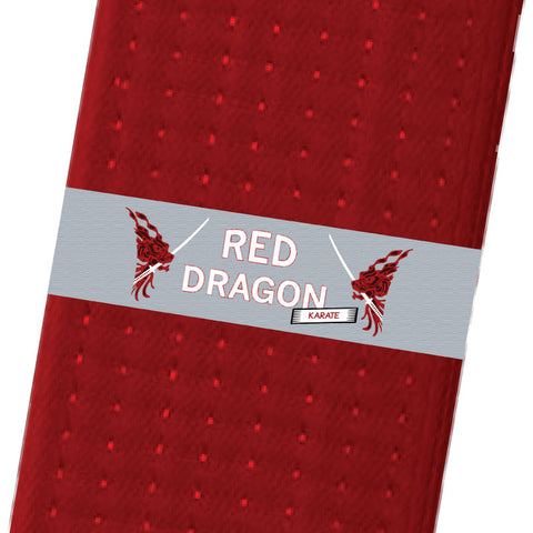 Red Dragon Karate BeltStripes - Lt. Grey Custom Belt Stripes - BeltStripes.com : The #1 Source for Martial Arts Belt Tape