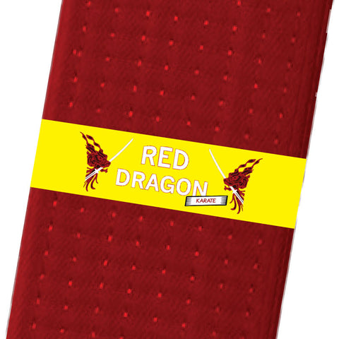 Red Dragon Karate BeltStripes - Yellow Custom Belt Stripes - BeltStripes.com : The #1 Source for Martial Arts Belt Tape