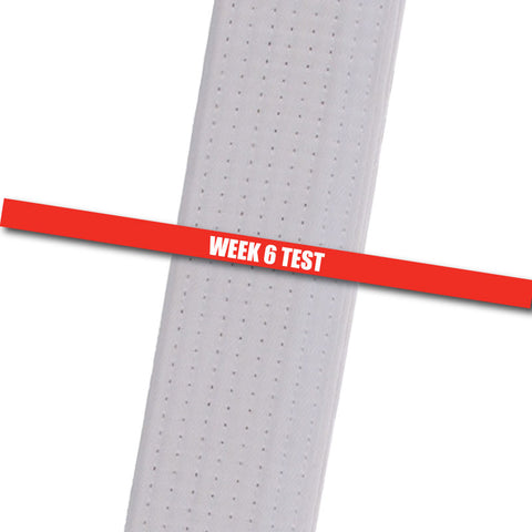 Testing Stripes - Week 6 Test - Red Achievement Stripes - BeltStripes.com : The #1 Source for Martial Arts Belt Tape