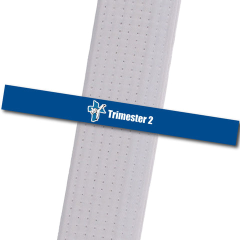 Shepherd-Warrior MA - Trimester 2 - Blue Custom Belt Stripes - BeltStripes.com : The #1 Source for Martial Arts Belt Tape
