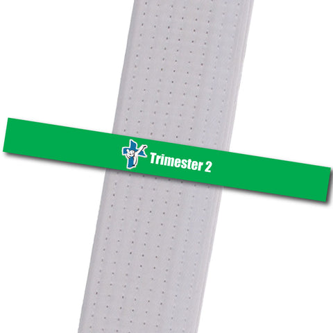 Shepherd-Warrior MA - Trimester 2 - Green Custom Belt Stripes - BeltStripes.com : The #1 Source for Martial Arts Belt Tape