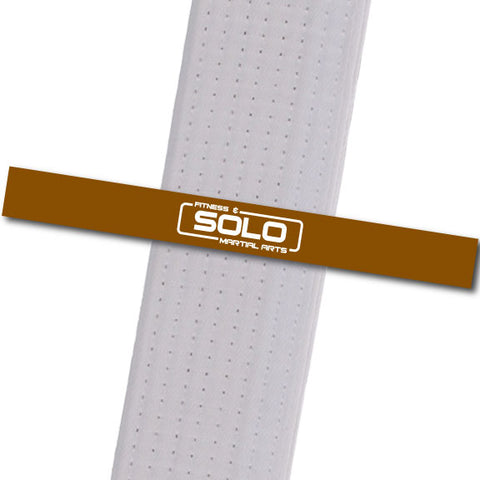 Solo Martial Arts - Brown with New Logo Custom Belt Stripes - BeltStripes.com : The #1 Source for Martial Arts Belt Tape