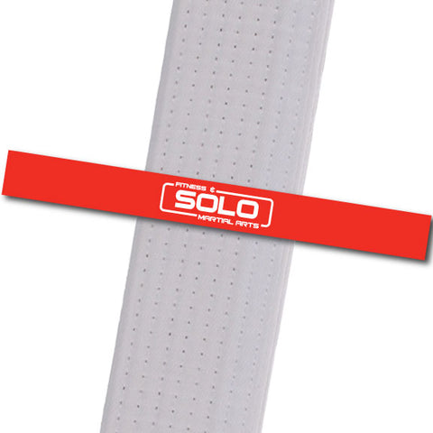 Solo Martial Arts - Red with New Logo Custom Belt Stripes - BeltStripes.com : The #1 Source for Martial Arts Belt Tape