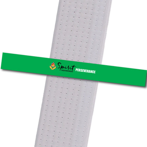 Spirit TKD - Perseverance Custom Belt Stripes - BeltStripes.com : The #1 Source for Martial Arts Belt Tape