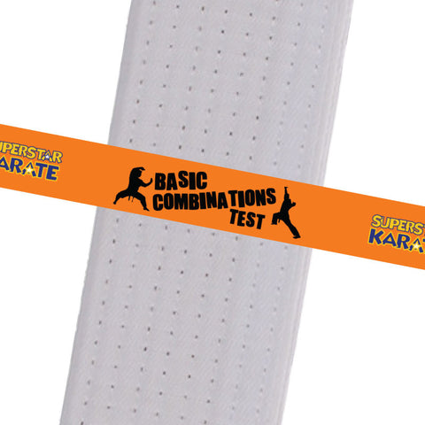 Superstar Karate - Basic Combinations Test Custom Belt Stripes - BeltStripes.com : The #1 Source for Martial Arts Belt Tape