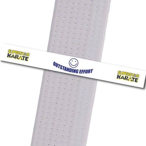 Superstar Karate - Outstanding Effort Custom Belt Stripes - BeltStripes.com : The #1 Source for Martial Arts Belt Tape
