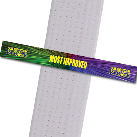 Superstar Karate - Most Improved Custom Belt Stripes - BeltStripes.com : The #1 Source for Martial Arts Belt Tape