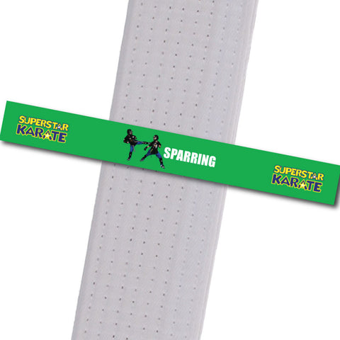 Superstar Karate - Sparring Custom Belt Stripes - BeltStripes.com : The #1 Source for Martial Arts Belt Tape