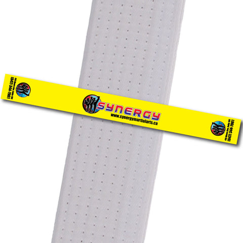 Synergy MA - Yellow Achievement Stripes - BeltStripes.com : The #1 Source for Martial Arts Belt Tape