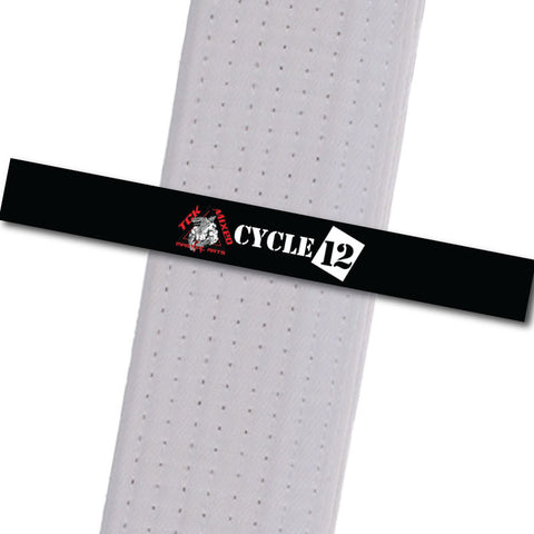 TCK Mixed Martial Arts - Cycle 12 Custom Belt Stripes - BeltStripes.com : The #1 Source for Martial Arts Belt Tape