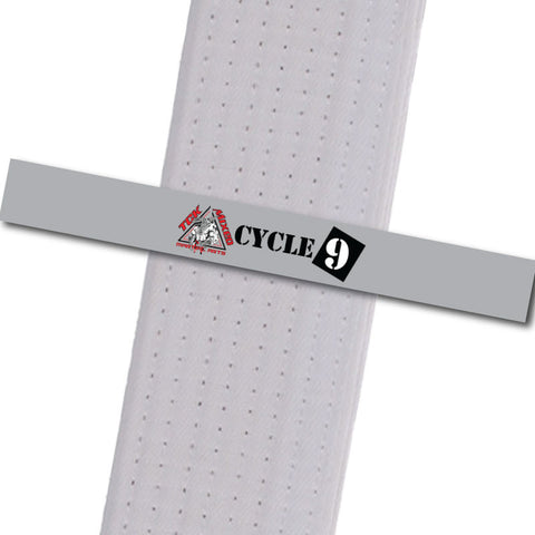 TCK Mixed Martial Arts - Cycle 9 Custom Belt Stripes - BeltStripes.com : The #1 Source for Martial Arts Belt Tape