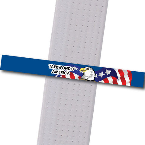 TKD America - Blue Custom Belt Stripes - BeltStripes.com : The #1 Source for Martial Arts Belt Tape