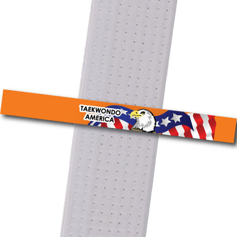 TKD America - Orange Custom Belt Stripes - BeltStripes.com : The #1 Source for Martial Arts Belt Tape