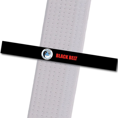 The POUND MA - Black Belt Custom Belt Stripes - BeltStripes.com : The #1 Source for Martial Arts Belt Tape