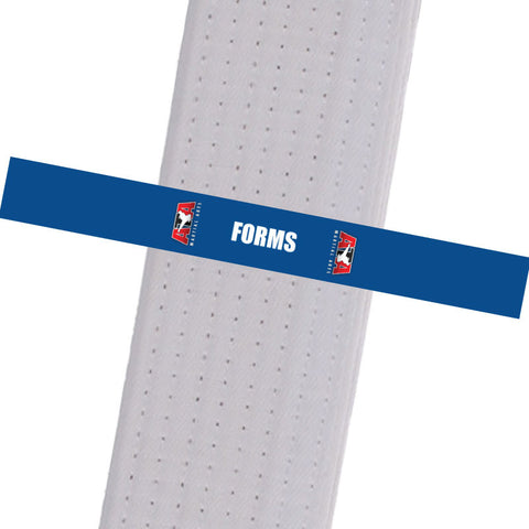 Triple Crown Martial Arts - FORMS - Blue Custom Belt Stripes - BeltStripes.com : The #1 Source for Martial Arts Belt Tape