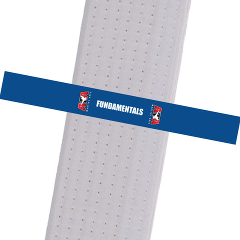Triple Crown Martial Arts - FUNDAMENTALS - Blue Custom Belt Stripes - BeltStripes.com : The #1 Source for Martial Arts Belt Tape