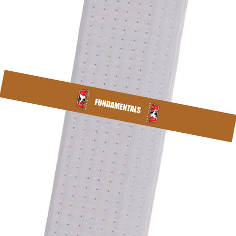 Triple Crown Martial Arts - FUNDAMENTALS - Brown Custom Belt Stripes - BeltStripes.com : The #1 Source for Martial Arts Belt Tape