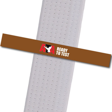 Wescott's Martial Arts - Ready to Test - Brown Achievement Stripes - BeltStripes.com : The #1 Source for Martial Arts Belt Tape