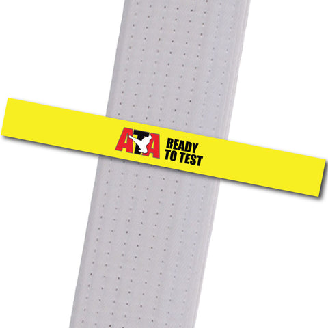 Wescott's Martial Arts - Ready to Test - Yellow Achievement Stripes - BeltStripes.com : The #1 Source for Martial Arts Belt Tape