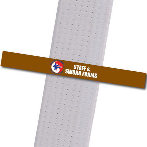 Wesley Chapel MA - Staff & Sword Forms Custom Belt Stripes - BeltStripes.com : The #1 Source for Martial Arts Belt Tape