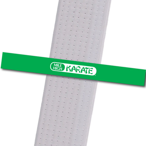 Westminster - Logo Only - Green Achievement Stripes - BeltStripes.com : The #1 Source for Martial Arts Belt Tape