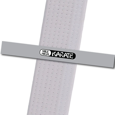 Westminster - Logo Only - Grey Achievement Stripes - BeltStripes.com : The #1 Source for Martial Arts Belt Tape