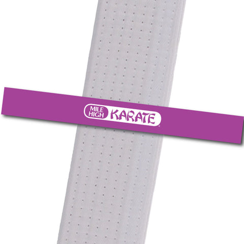 Westminster - Logo Only - Purple Achievement Stripes - BeltStripes.com : The #1 Source for Martial Arts Belt Tape