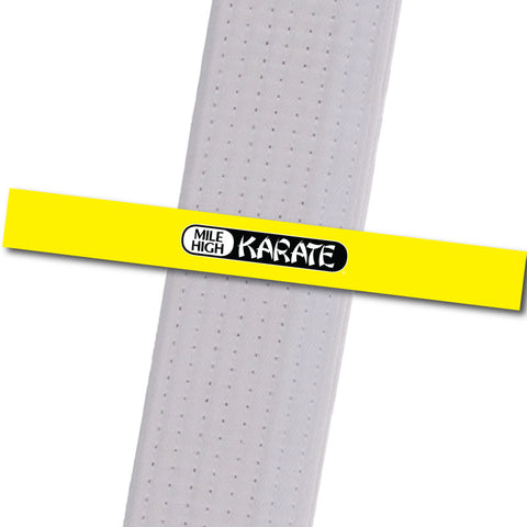 Westminster - Logo Only - Yellow Achievement Stripes - BeltStripes.com : The #1 Source for Martial Arts Belt Tape