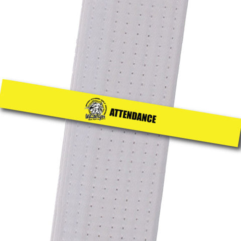 White Tiger MMA - Attendance Custom Belt Stripes - BeltStripes.com : The #1 Source for Martial Arts Belt Tape