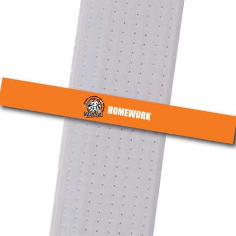 White Tiger MMA - Homework Custom Belt Stripes - BeltStripes.com : The #1 Source for Martial Arts Belt Tape
