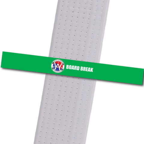 Wings Academy - Board Break - Green Custom Belt Stripes - BeltStripes.com : The #1 Source for Martial Arts Belt Tape