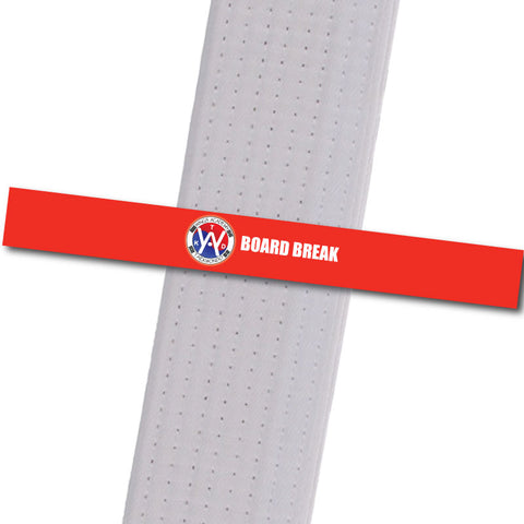 Wings Academy - Board Break - Red Custom Belt Stripes - BeltStripes.com : The #1 Source for Martial Arts Belt Tape