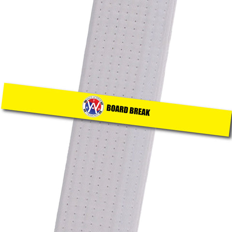 Wings Academy - Board Break - Yellow Custom Belt Stripes - BeltStripes.com : The #1 Source for Martial Arts Belt Tape