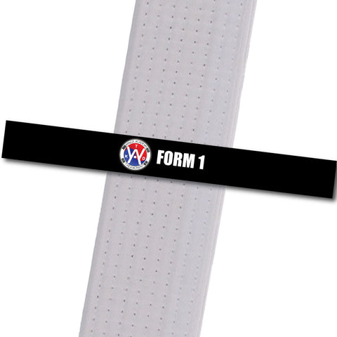 Wings Academy - Form 1 - Black Custom Belt Stripes - BeltStripes.com : The #1 Source for Martial Arts Belt Tape