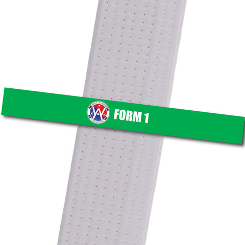 Wings Academy - Form 1 - Green Custom Belt Stripes - BeltStripes.com : The #1 Source for Martial Arts Belt Tape