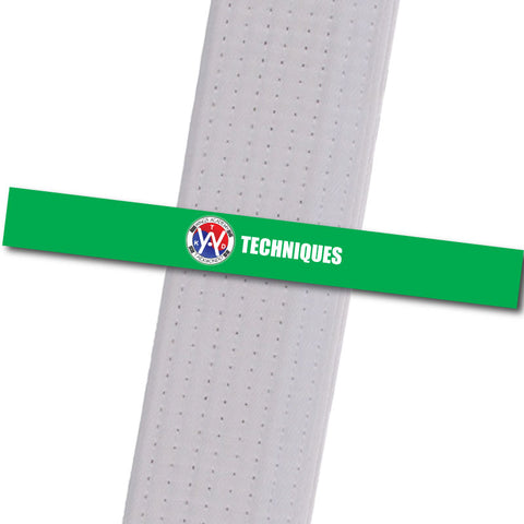 Wings Academy - Techniques - Green Custom Belt Stripes - BeltStripes.com : The #1 Source for Martial Arts Belt Tape