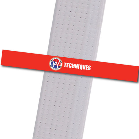 Wings Academy - Techniques - Red Custom Belt Stripes - BeltStripes.com : The #1 Source for Martial Arts Belt Tape