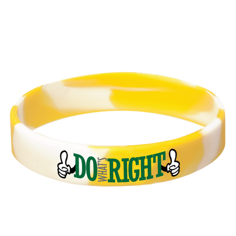 Do What's Right! Silicone Wrist Bands Achievement Stripes - BeltStripes.com : The #1 Source for Martial Arts Belt Tape
